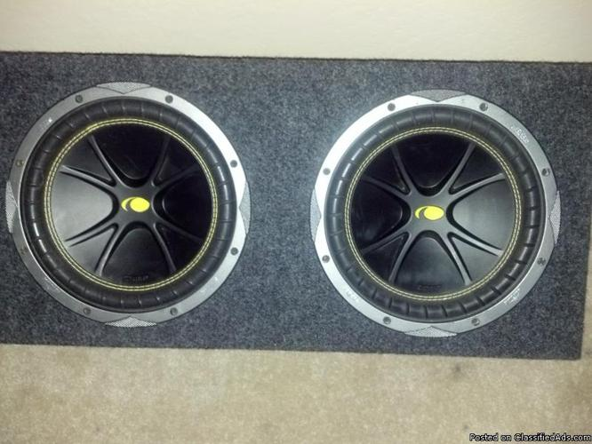 ** FOR SALE ** Kicker Woofers (boxed & ready) $200 - Price: $200.00