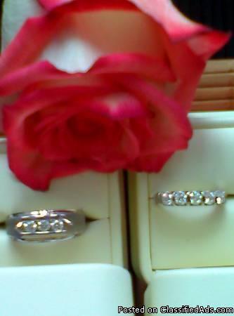 14K White Gold Oval Round Diamond Ring 1 1/2 Carat