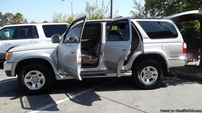 1998 TOYOTA 4RUNNER LIMITED**BAD CREDIT? NO PROBLEM**FRESH START MOTORS GUARANTEES YOUR CREDIT APPROVAL** - Price: CALL