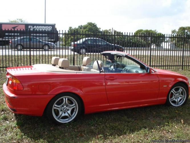 2001 bmw 330ci red convertible price 7 200 for sale in miami arizona your city ads. Black Bedroom Furniture Sets. Home Design Ideas