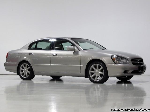2002 Infiniti Q45 Base with 6 Disc CD and Power Sunshade, Mileage: 83,310