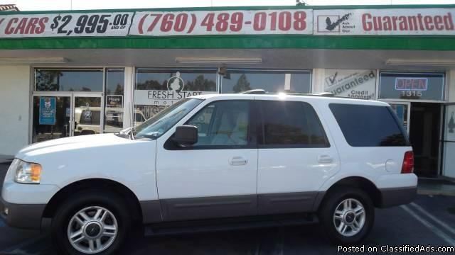 2003 FORD EXPEDITION XLT **FRESH START MOTORS*GUARANTEED APPROVAL** - Price: 11999