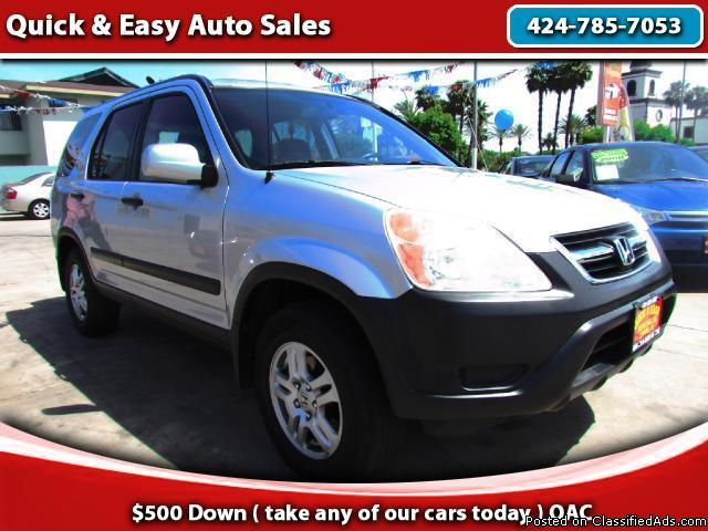 2003 Honda CR-V EX!!Your Job Is Your Credit !!Only $499 Down(oac)!!
