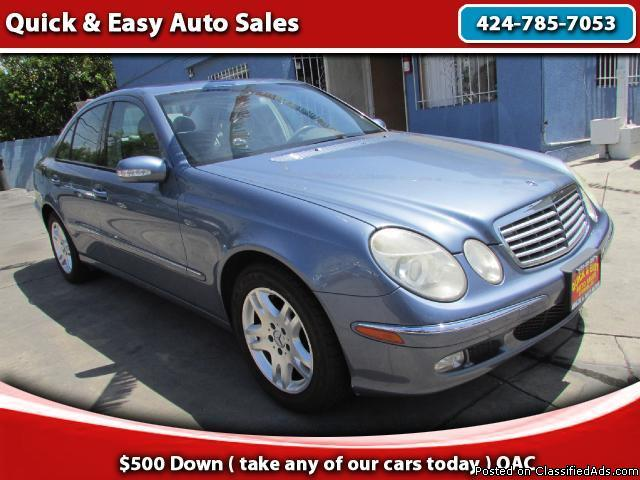 2003 Mercedes-Benz E-! Come And Drive For As Low As $499 Down!!!