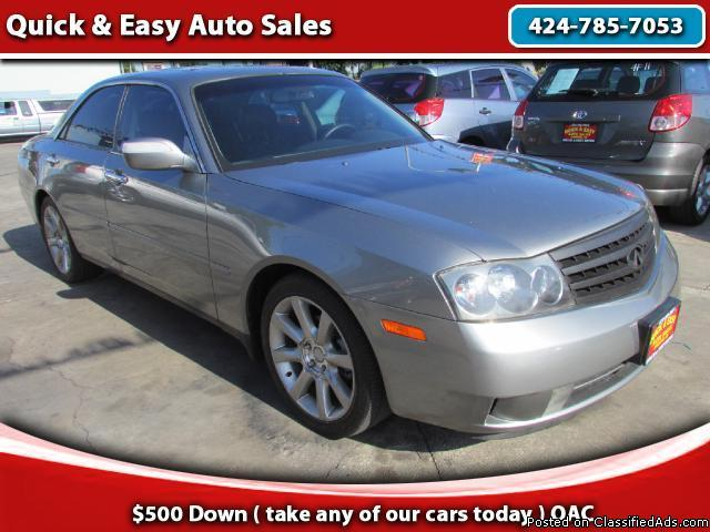 2004 Infiniti M45 Sed!!Your Job Is Your Credit !!Only $499 Down!!!!!!!