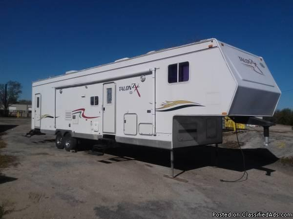 2004 Jayco Talon ZX Toy Hauler 35ft Fifth Wheel With Super Slide