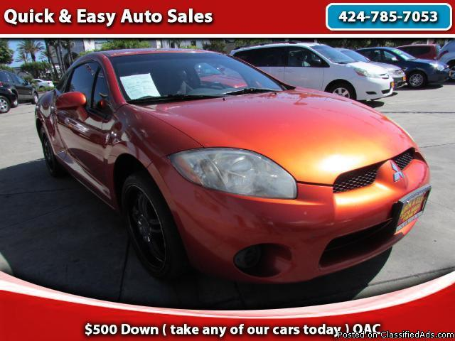 2006 Mitsubishi Eclipse !We Finance Your Downpayment!!As Low As $499!!