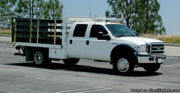 2006 Stakebed Flatbed Studio Truck For Sale - Low Mileage - Crew Cab - Price: Please Call