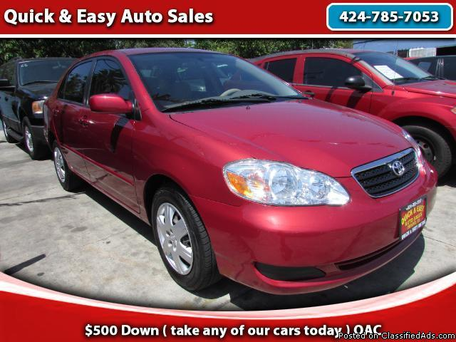2006 Toyota Corolla CE!!Bad Credit?No problem!!We Finance Everyone!!!