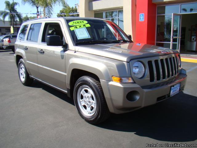 2008 Gold Jeep Patriot 4x4! - Price: call