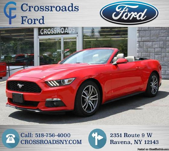 2015 Red Ford Mustang Convertible I4 Turbo! ECO BOOST! 32K Spotless Miles!#U9025PC