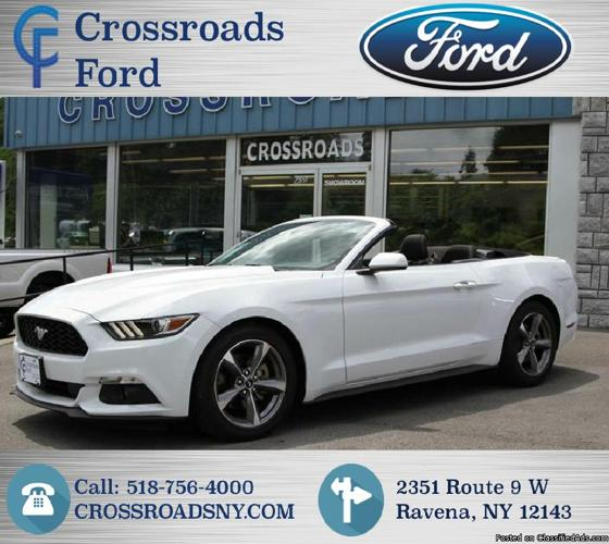 2015 White Ford Mustang Convertible V6! Like New! 24K Miles! #U8977PC