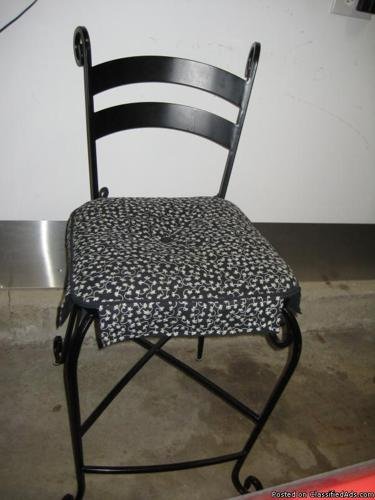 3 Wrought Iron Counter Height Bar Stools Pier One Price 160 For All