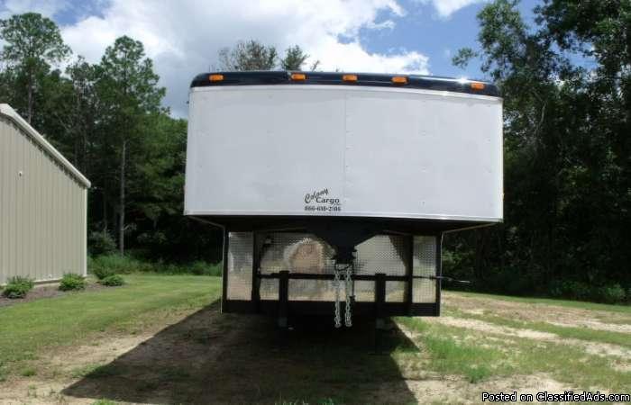 7k axles gooseneck enclosed trailer 588 :: uhiu