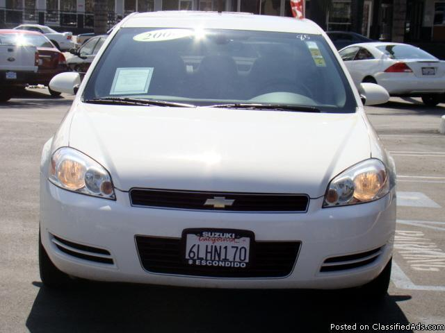 Affordable Luxury Now Available At Your Fingertips - White 2006 Chevy Impala! - Price: call