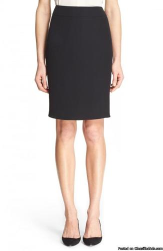 Armani Collezioni Wool Cady Pencil Skirt