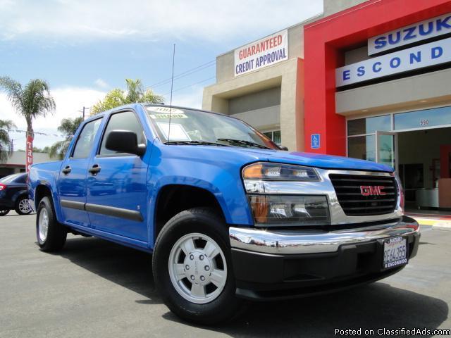 Beautiful Blue 2007 GMC Canyon Pickup! - Price: call