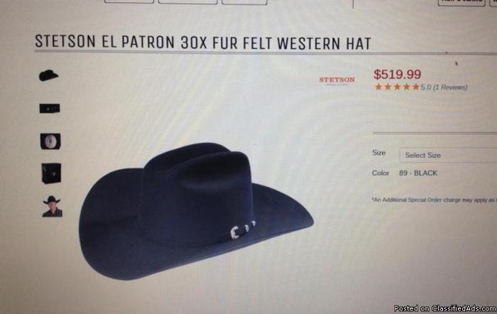 Black Stetson Cowboy Hat