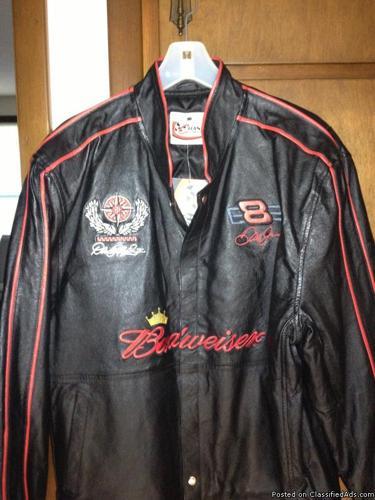 Brand new leather Dale Earnhardt Jr. jacket, size L/XL.