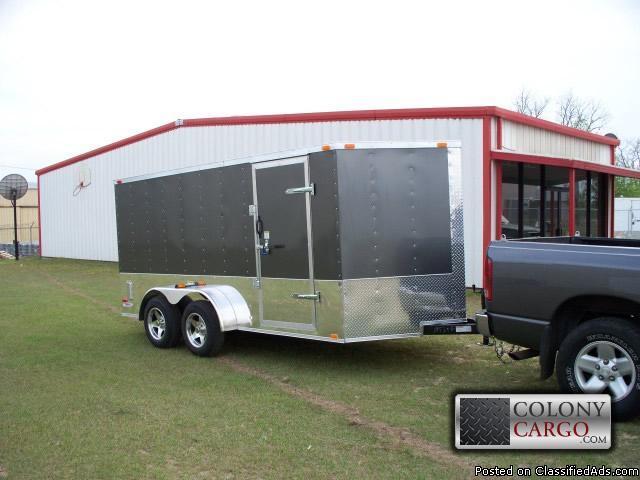 Brand new -tandem 7x14 elite enclosed trailer