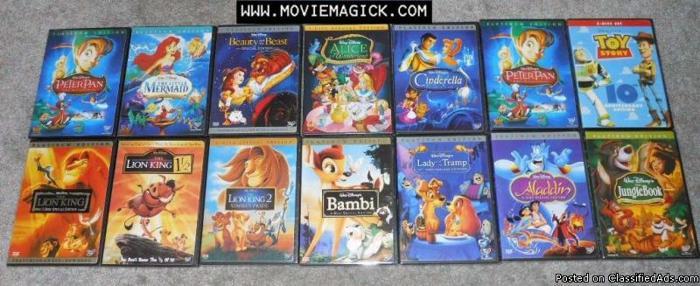 Classic Walt Disney DVDs for Kids - Price: 14.00