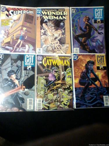 Comic Books: Wonder Woman, Birds Of Prey, Dazzler, Catwoman, Batgirl