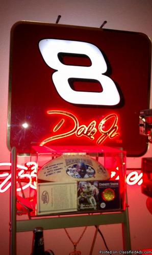 Dale Earnhardt Jr  # 8 Budweiser Neon Sign - Price: 475 00