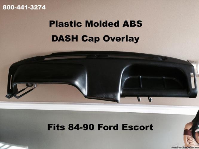 Dash Cap Overlay Plastic Hard Cover Fits Ford Escort