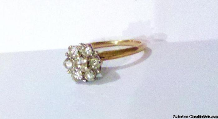 Diamond Ring Cluster 1 2K Price 325 00 for sale in Huntsville Alabama Y