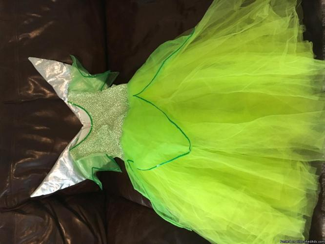 Elsa and Tinkerbell boutique gowns