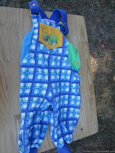 Gymboree coveralls, size Infant, blue/green plaid - Price: 3
