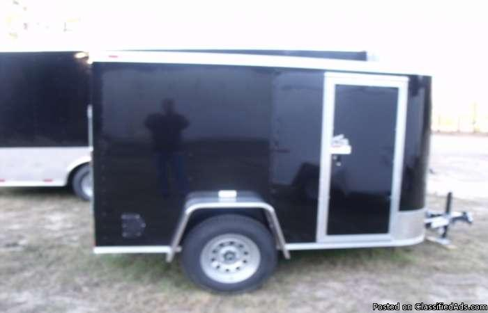 Hearty :all tube frame 5x8 enclosed trailer