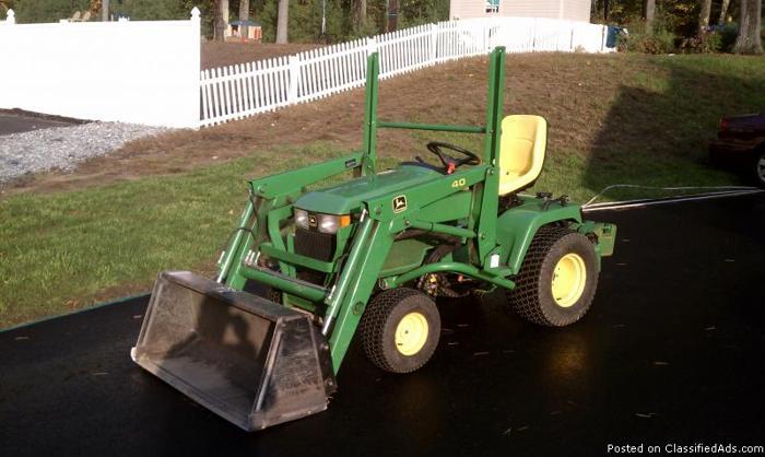 John Deere 445 Compact Utility Tractor - Price: $6,900