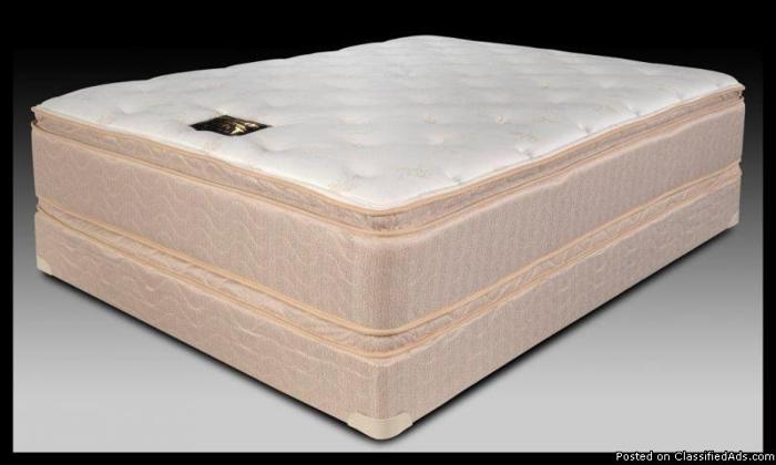 King Double Pillow Top 18 5 inch Orthopedic Mattress Set