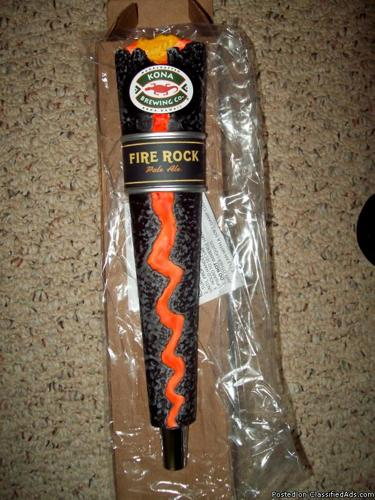 Kona fire rock pale ale beer tap handle very rare nib for Firerock fireplace prices
