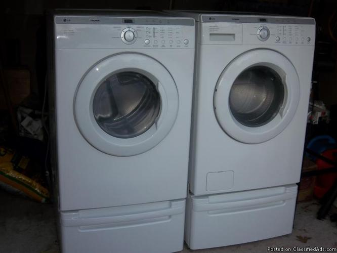 lg tromm washer dryer set price 800 00