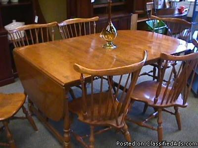 Maple Drop Leaf Table Chairs Ethan Allen Price 425