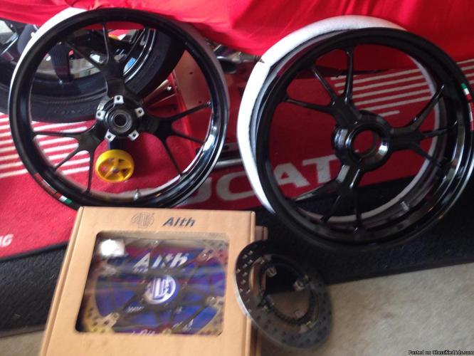 Marchesini wheels/rotors(gloss blk powdercoat)