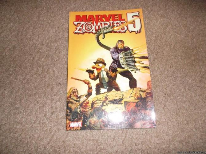 MARVEL ZOMBIES 5 TRADE PAPERBACK * 2011 * MINT * Howard The Duck & Machine Man!!