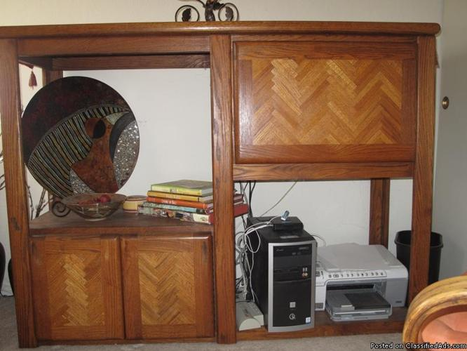 Media Storage Unit and Desk - Price: 150.00
