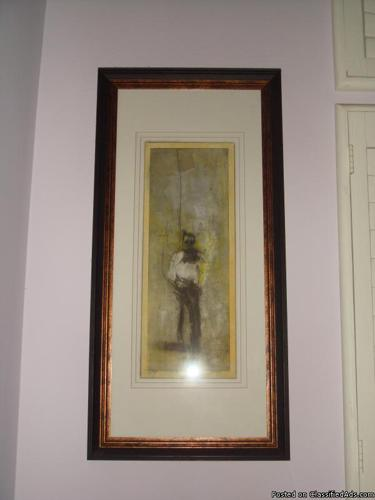 Modern Art Print in Frame - Price: 120
