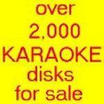 Over 2,000 CD+G karaoke disks for sale