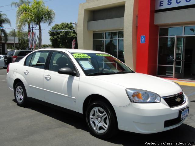 Pearl White 2007 Chevy Malibu - 26,000 Miles! - Price: call