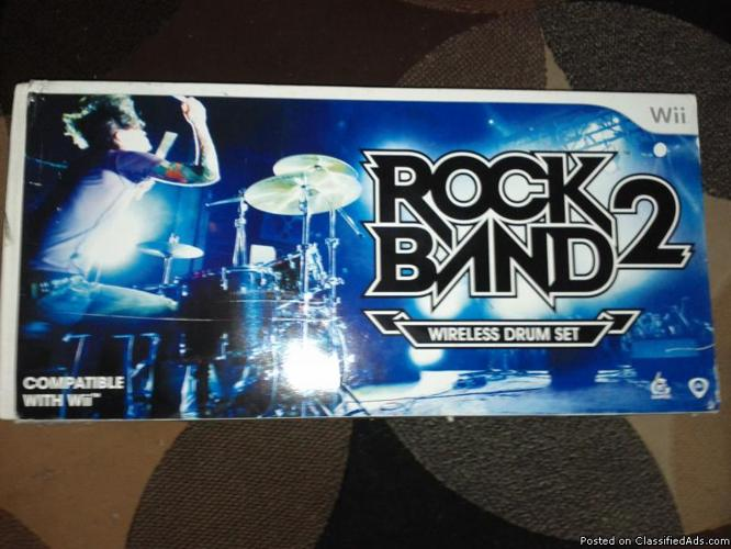 Rockband 2 Wire Drum Set - Price: $35 or obo or trade