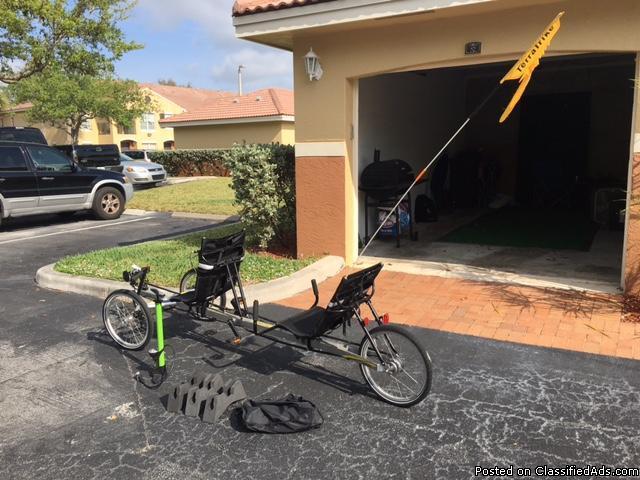 Rover TerraTrike Recumbent Tandem Bike