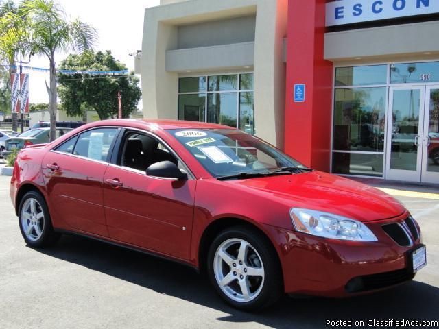 Ruby Red 2007 Pontiac G6 - Price: call