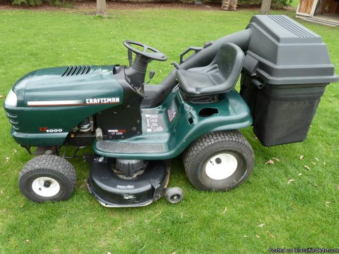 Sears Lawn Tractor With Bagger Price 650 00