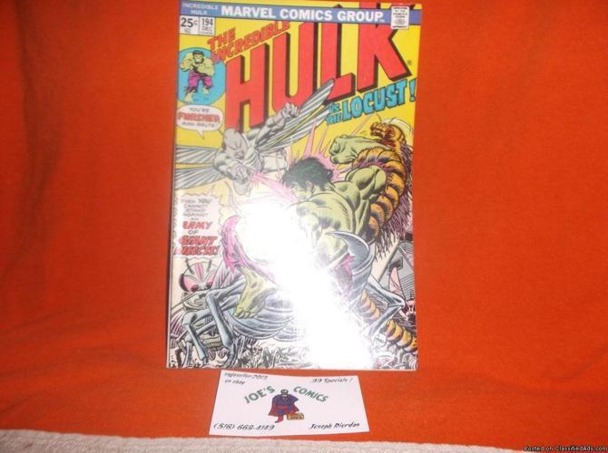 The Incredible Hulk #194 * GEM * (Dec 1975, Marvel) * vs. The Locust!
