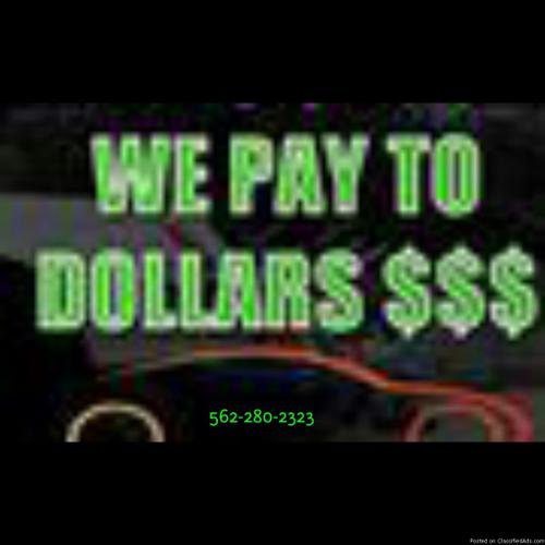 We Buy junk cars We pay more (562)270-0505