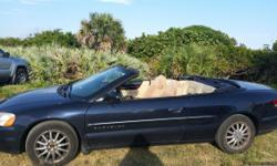 01 Chrysler Sebring convertible body is still sitting good minimal rust on one door underneath navy blue new top 3 years ago new transmission 3 years ago rebuilt 1 week ago $725 for new brake pads and rotors and steering pins the water pump has blown and